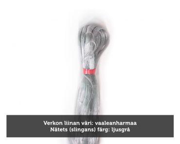 Kalaverkko 50mm 3,0m lanka 0,17 pituus 60m, vaaleanharmaa, Pietarin kaksoispaula