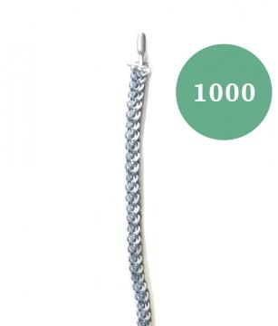 Lyijypaula nro 1000, pehmeä virkattu, harmaa