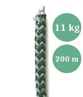 Lyijyköysi, rysän ja nuotan alapaulaksi, paino 11,00 kg/100 m, pituus 200 m (ltk)