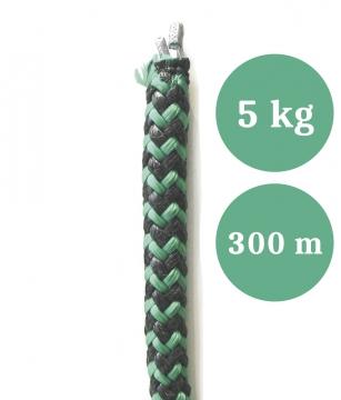 Lyijyköysi, rysän ja nuotan alapaulaksi, paino 5,00 kg/100 m, pituus 300 m (ltk)