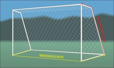 Jalkapallomaaliverkko (3 x 2 m)