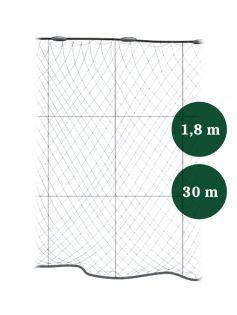 Grimnät 100mm x 1,8/3,0 IronSilk längd 30m, Pietari dubbelteln