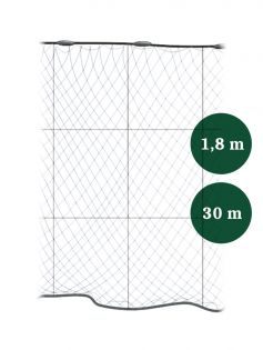 Grimnät 65mm x 1,8/3,0 IronSilk längd 30m, Pietari dubbelteln
