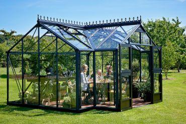 Kasvihuone Juliana Oranger 15,2 m² 3mm turvalasilla, maalaamaton alumiinirunko