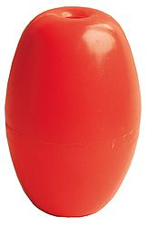 Plastflöte, hål 7mm storlek 48x68mm bärighet 68g 4st