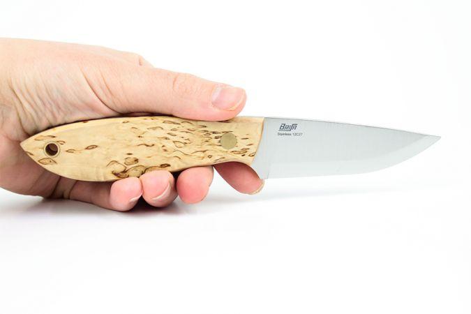 Kniv Brisa Bobtail, Curly Birch