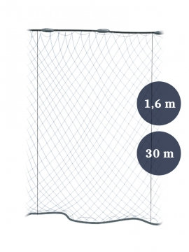 Pystyriimuverkko 45mm x 1,6/2,4 lanka 0,15 pituus 30m, Pietarin kaksoispaula