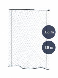 Pystyriimuverkko 80mm x 1,6/2,4 lanka 0,12x3 pituus 30m, Pietarin kaksoispaula