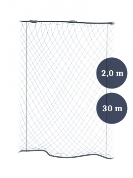 Pystyriimuverkko 55mm x 2,0/3,0 lanka 0,20 pituus 30m, Pietarin kaksoispaula