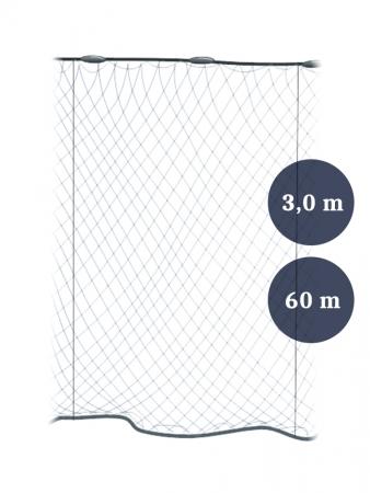 Pystyriimuverkko 60mm x 3,0/5,0 lanka 0,17 pituus 60m, Pietarin kaksoispaula