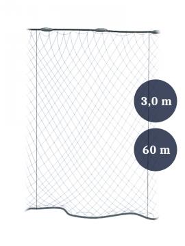 Stolpgrimnät 60mm x 3,0/5,0 garn 0,17 längd 60m, Pietari dubbelteln