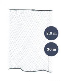 Stolpgrimnät 90mm x 2,0/3,0 garn 0,12x3 längd 30m, Pietari dubbelteln