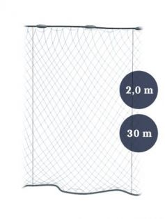 Stolpgrimnät 80mm x 2,0/3,0 garn 0,12x3 längd 30m, Pietari dubbelteln