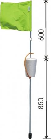 Mökki-lippumerkki pituus 1,45m musta lippu