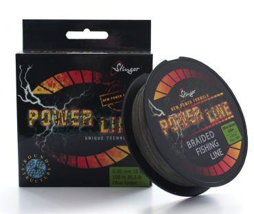 Stinger Power Line -lina 150m, färg oliv