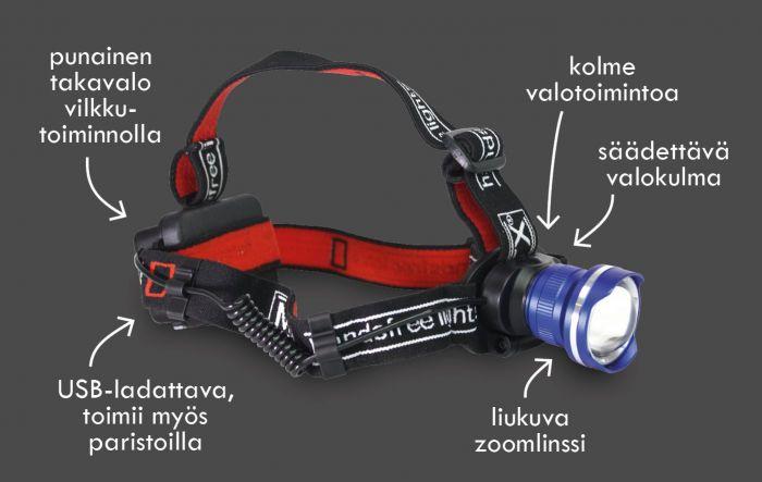 Otsalamppu MTX 2188 Professional 600lm
