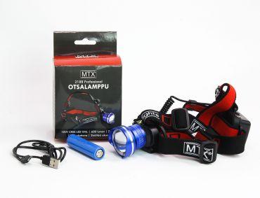 Kampanjapaketti Otsalamppu MTX 2188 + taskulamppu MTX 3010